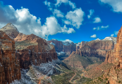 zion national park, canyon, national park, nature, overlook, rocky mountains, mountains, usa wallpaper