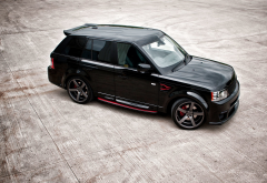 land rover, range rover, sport, tuning, black car, cars wallpaper