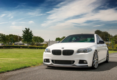 bmw, white car, cars, bmw 5 series wallpaper