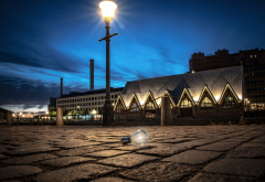 gothenburg, sweden, light bulb, city, lights, night wallpaper