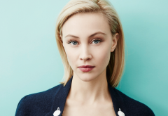 sarah gadon, actress, blue eyes, blonde, portrait, women wallpaper