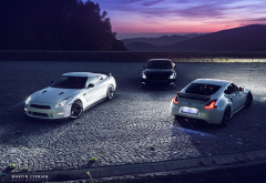 nissan gt-r, nissan, cars, night, mountains wallpaper