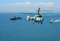 helicopter, ships, sea, sikorsky s-70 wallpaper