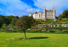 scotland, landscape, glamis castle, nature wallpaper