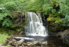 waterfall, yorkshire, england, nature wallpaper