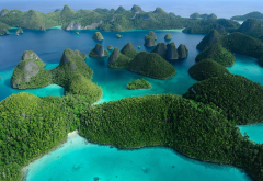 raja ampat, indonesia, wayag islands, west papua province, nature, sea, ocean, island wallpaper