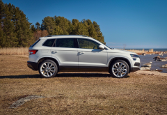 skoda karoq, skoda, cars, white car wallpaper