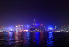 a symphony of lights, hong kong, city, night, china wallpaper