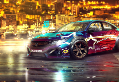honda civic, honda, cars, night wallpaper