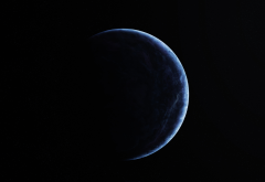 planet, space, dark, simple wallpaper