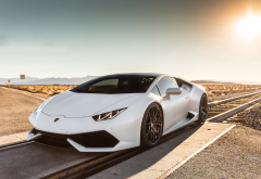 white car, lamborghini huracan, lamborghini, cars wallpaper