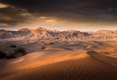 nature, sand, desert, clouds wallpaper